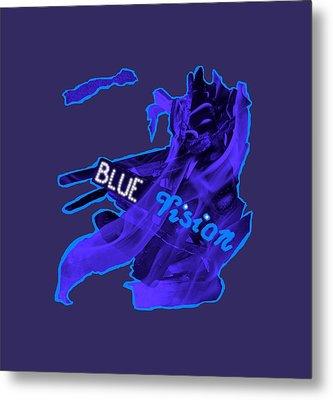 Blue Vision Metal Print