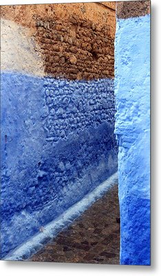 Metal Print featuring the photograph Blue Walls Of Chefchaouen by Ramona Johnston