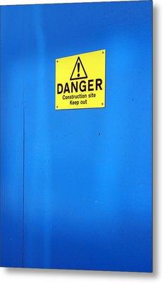 Blue Warning 2 Metal Print by Jez C Self