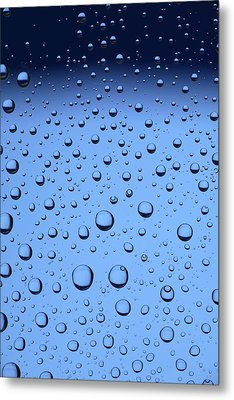 Blue Water Bubbles Metal Print by Frank Tschakert