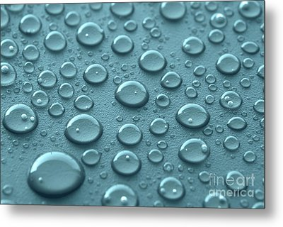Blue Water Drops Metal Print by Blink Images