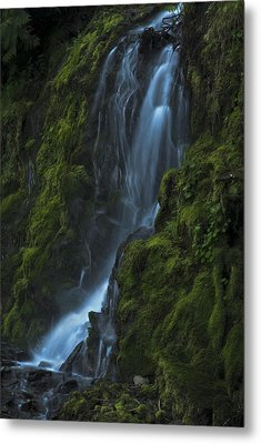 Metal Print featuring the photograph Blue Waterfall by Yulia Kazansky