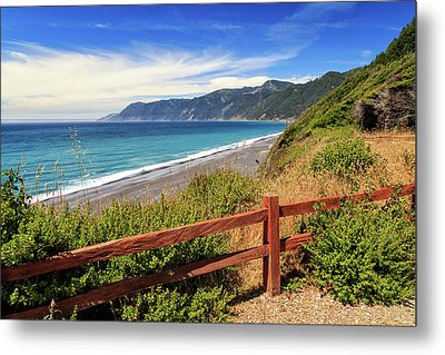 Metal Print featuring the photograph Blue Waters Of The Lost Coast by James Eddy