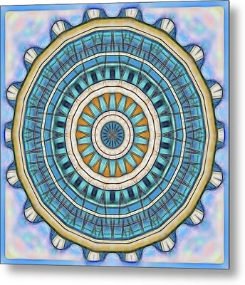 Metal Print featuring the digital art Blue Wheeler 1 by Wendy J St Christopher