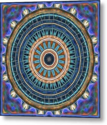 Metal Print featuring the digital art Blue Wheeler 2 by Wendy J St Christopher