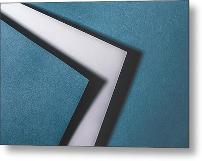 Blue White Blue Metal Print