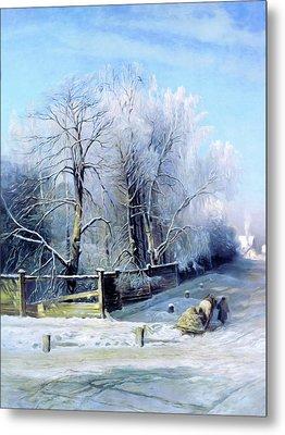 Blue Winter Days Metal Print by Georgiana Romanovna