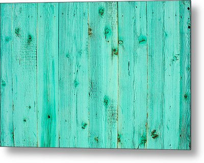 Blue Wooden Planks Metal Print by John Williams