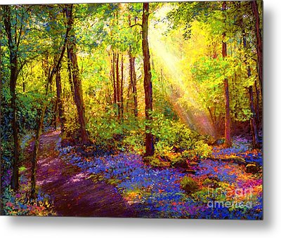 Bluebell Blessing Metal Print by Jane Small