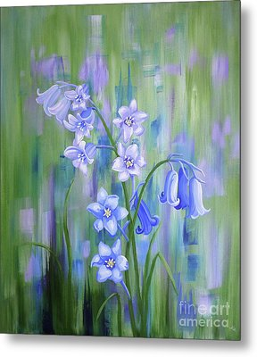 Bluebell Haze Metal Print