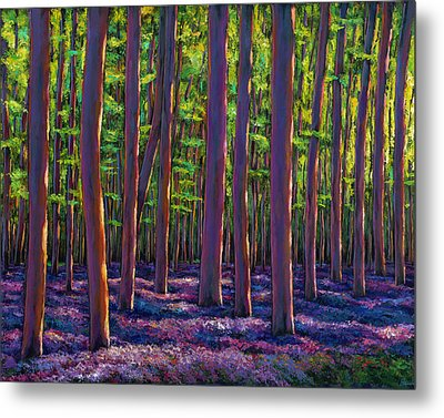 Bluebells And Forest Metal Print by Johnathan Harris
