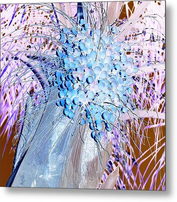 J-lintz - Blueberries Metal Print