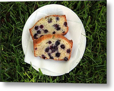 Blueberry Bread Metal Print