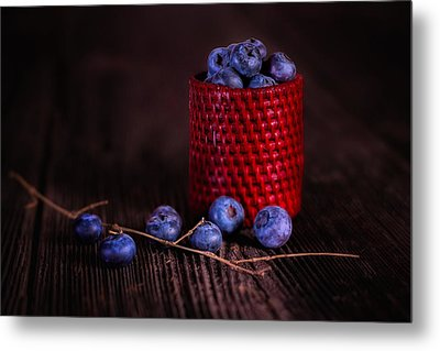 Blueberry Delight Metal Print