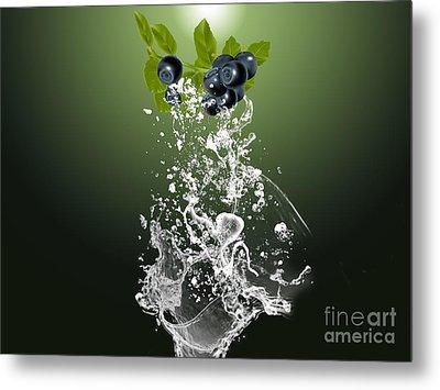 Blueberry Splash Metal Print by Marvin Blaine