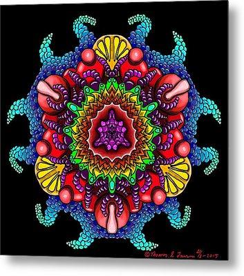 Blueberryflower Metal Print