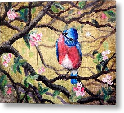 Bluebird By Gretchen Smith Metal Print by Gretchen  Smith