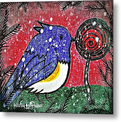 Bluebird Of The Season Metal Print