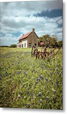 Metal Print featuring the photograph Bluebonnet Fields by Linda Unger