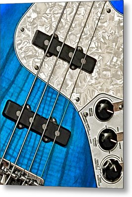 Blues Bass Metal Print by William Jobes