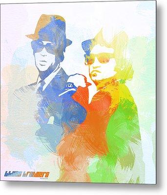 Blues Brothers Metal Print by Naxart Studio