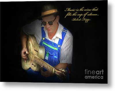 Blues Metal Print by Marion Johnson