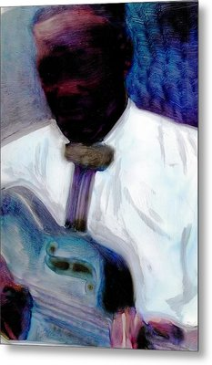 Metal Print featuring the painting Blues Pickin by FeatherStone Studio Julie A Miller