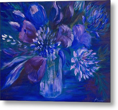 Blues To Brighten Your Day Metal Print