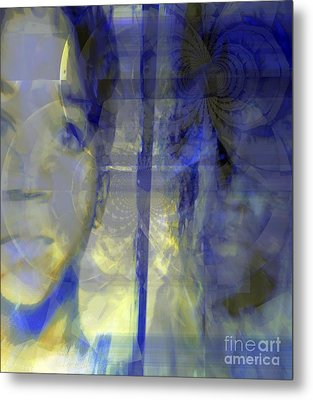 Blurism And Reflecting Shadow Metal Print by Fania Simon
