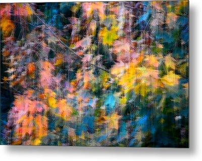 Blurred Leaf Abstract 2 Metal Print
