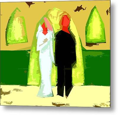 Blushing Bride And Groom 2 Metal Print by Patrick J Murphy