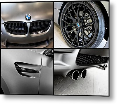 Metal Print featuring the photograph Bmw M3 Collage by Aaron Berg