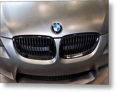 Metal Print featuring the photograph Bmw M3 Hood by Aaron Berg