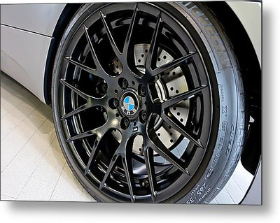Metal Print featuring the photograph Bmw M3 Wheel by Aaron Berg