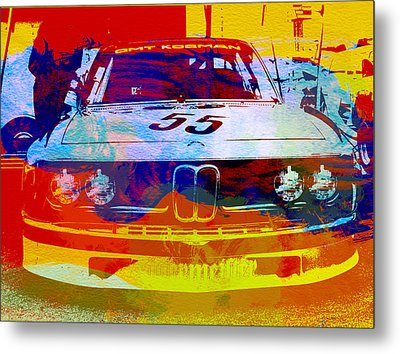 Bmw Racing Metal Print by Naxart Studio