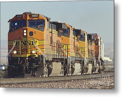 Bnsf Freight Train Metal Print by Richard R Hansen and Photo Researchers