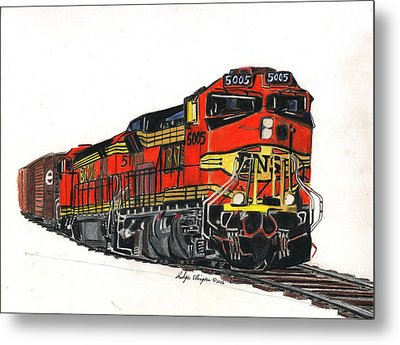Bnsf Metal Print by Rodger Ellingson