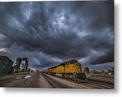 Bnsf Storm Metal Print by Darren  White