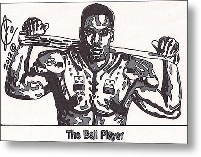 Bo Jackson The Ball Player Metal Print by Jeremiah Colley