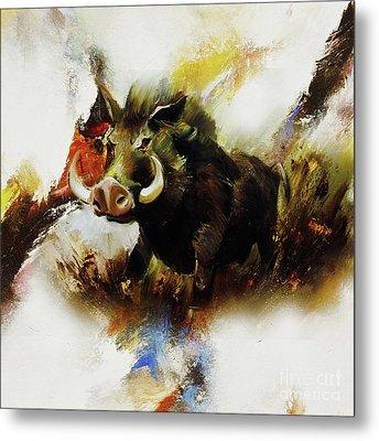 Boar 02 Metal Print by Gull G