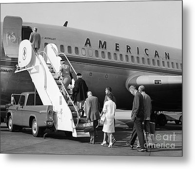 Boarding American Airlines Metal Print