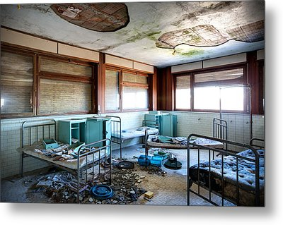 Boarding School Nightmare - Abandoned Building Metal Print