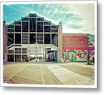 Metal Print featuring the photograph Boardwalk Casino - Asbury Park by Colleen Kammerer