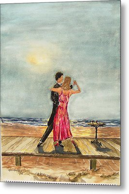 Boardwalk Dancers Metal Print by Miroslaw  Chelchowski