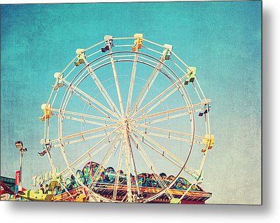 Boardwalk Ferris Wheel Metal Print by Melanie Alexandra Price