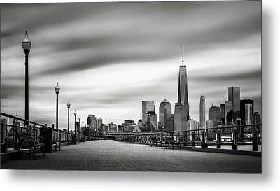 Metal Print featuring the photograph Boardwalk Into The City by Eduard Moldoveanu