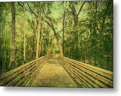 Metal Print featuring the photograph Boardwalk by Lewis Mann