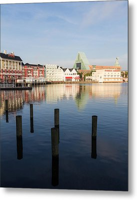 Metal Print featuring the photograph Boardwalk Morning by Ron Dubin