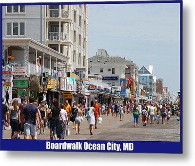 Boardwalk Ocean City Md Metal Print