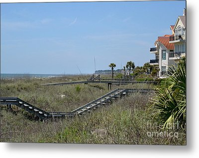 Metal Print featuring the photograph Boardwalks And Sand Dunes by Carol  Bradley